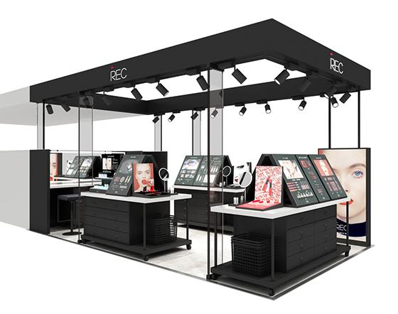 REC化妆品展示柜定制