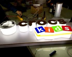 crocs发光字店牌